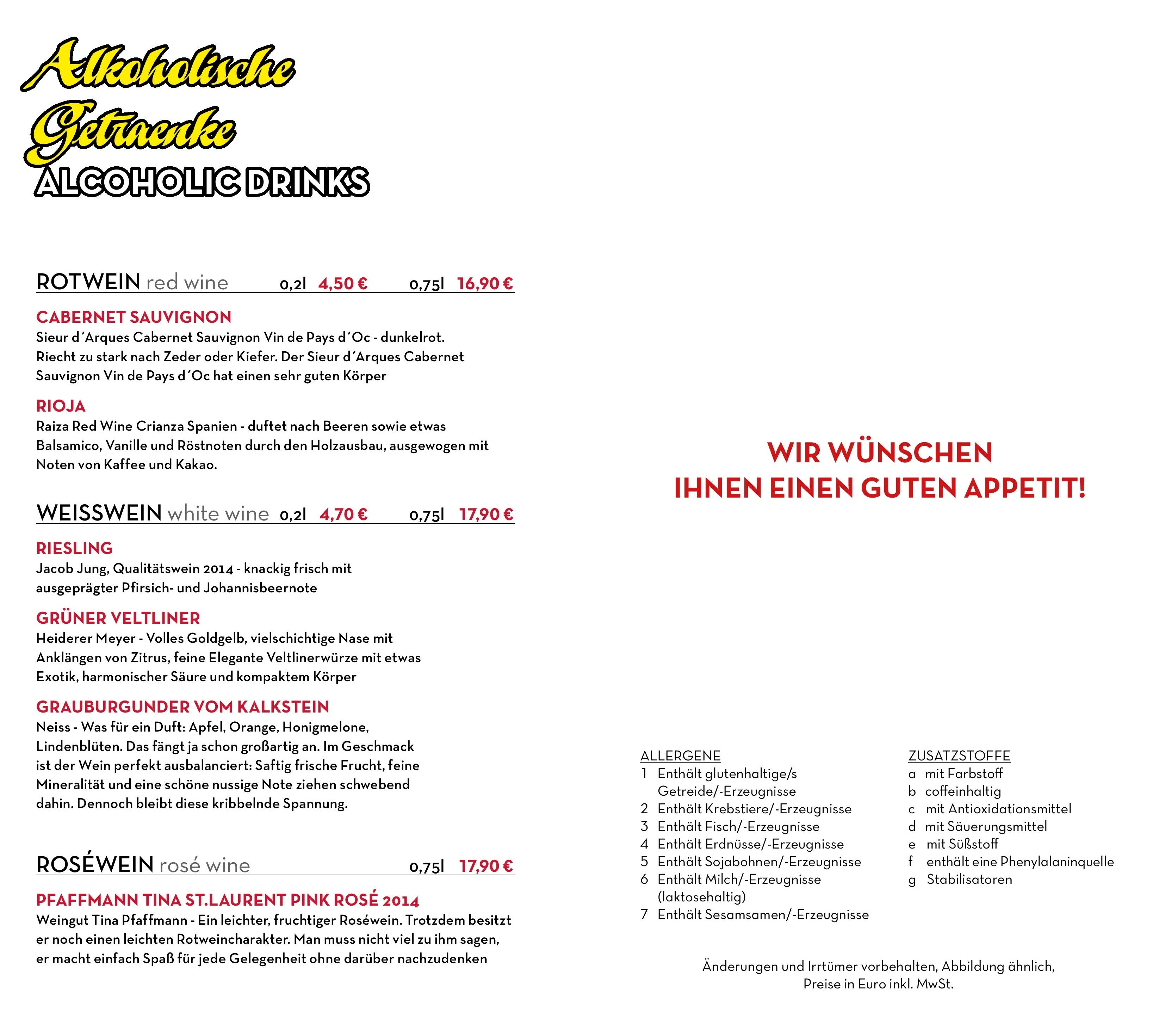 Getraenken Sumi Restaurant Vietnamesisch - Berlin
